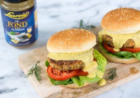 Zalmburgers met béarnaisesaus