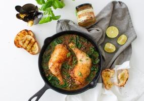 Potée aux cuisses de poulet, lentilles et tomates