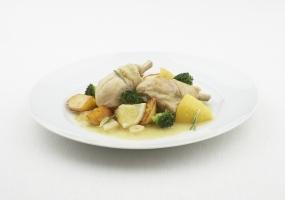 Kip met citroen en rozemarijn