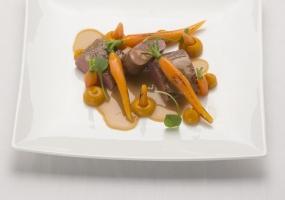 Filet d'agneau aux carottes, cumin et citron