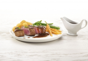 Steak balsamique