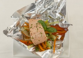 Zalm in papillot